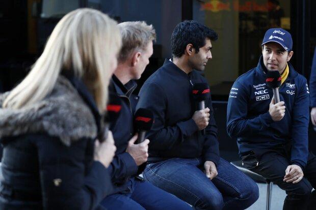 Karun Chandhok Sergio Perez Racing Point SportPesa Racing Point F1 Team F1 ~Karun Chandhok und Sergio Perez (Racing Point) ~