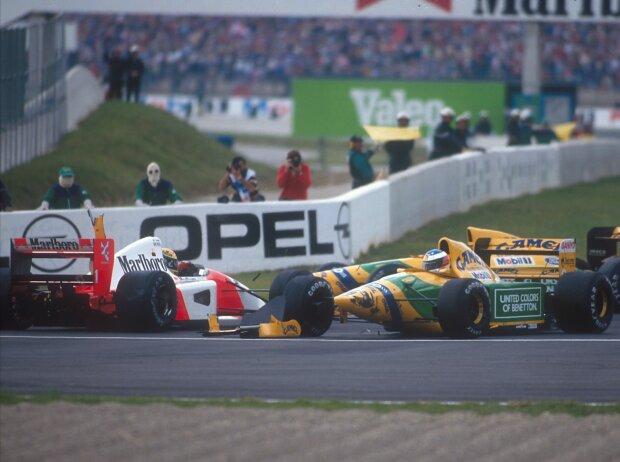 Ayrton Senna und Michael Schumacher