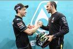 Franco Morbidelli (Petronas Yamaha) und Lewis Hamilton