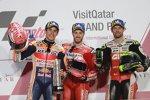 Marc Marquez (Honda), Andrea Dovizioso (Ducati) und Cal Crutchlow ()