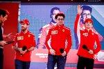 Mark Webber, Sebastian Vettel (Ferrari) und Charles Leclerc (Ferrari)