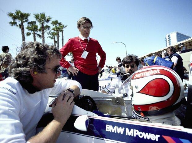Nelson Piquet, Charlie Whiting, Bernie Ecclestone