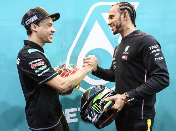 Franco Morbidelli, Lewis Hamilton