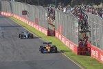 Lando Norris (McLaren) und Valtteri Bottas (Mercedes)