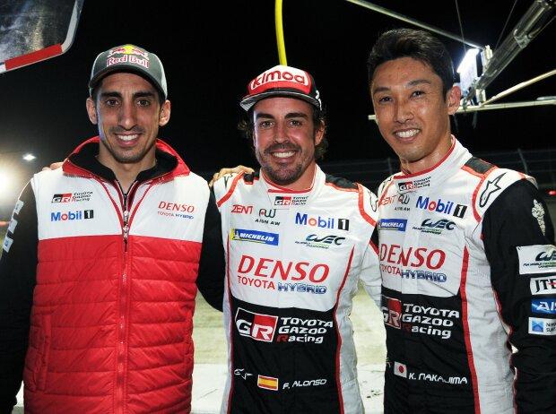 Fernando Alonso, Kazuki Nakajima, Sebastien Buemi