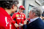 Jean Todt und Charles Leclerc (Ferrari)
