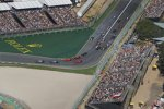 Valtteri Bottas (Mercedes), Lewis Hamilton (Mercedes), Sebastian Vettel (Ferrari), Max Verstappen (Red Bull) und Charles Leclerc (Ferrari)
