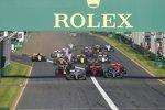Valtteri Bottas (Mercedes), Lewis Hamilton (Mercedes), Sebastian Vettel (Ferrari), Charles Leclerc (Ferrari), Max Verstappen (Red Bull) und Daniel Ricciardo (Renault)