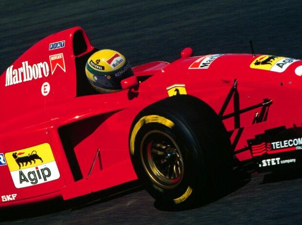 Ayrton Senna im 1995er-Ferrari (Fotomontage)