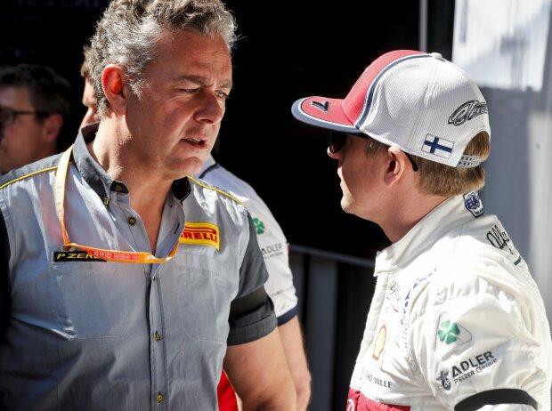 Mario Isola und Kimi Räikkönen