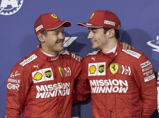 Sebastian Vettel, Charles Leclerc, Lewis Hamilton