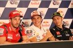 Andrea Dovizioso, Marc Marquez und Valentino Rossi