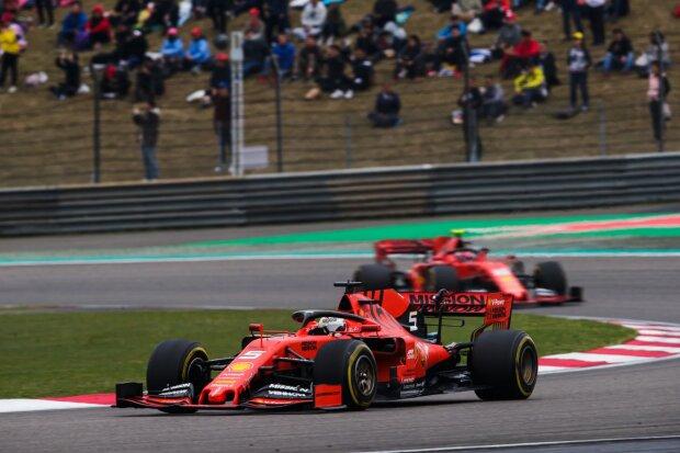 Sebastian Vettel Charles Leclerc Ferrari Scuderia Ferrari Mission Winnow F1 ~Sebastian Vettel (Ferrari) und Charles Leclerc (Ferrari) ~