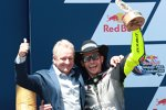 Kevin Schwantz und Valentino Rossi
