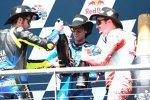 Valentino Rossi, Alex Rins und Jack Miller