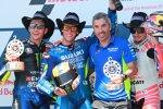 Valentino Rossi, Alex Rins, Jose Manuel Cazeaux und Jack Miller