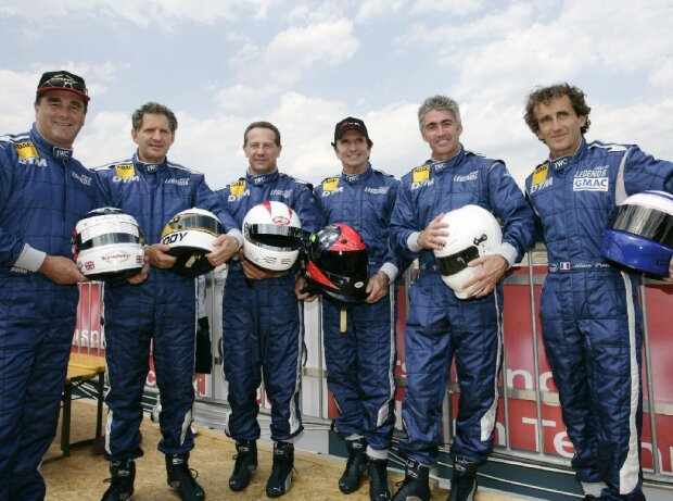 Nigel Mansell, Jody Scheckter, Johnny Cecotto, Emerson Fittipaldi, Mick Doohan, Alain Prost