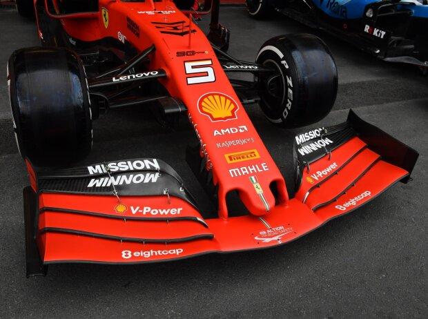 Sebastian Vettel, Ferrari SF90, Frontflügel