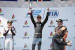 Jack Aitken (Campos), Jordan King (MP Motorsport) und Nyck de Vries (ART)