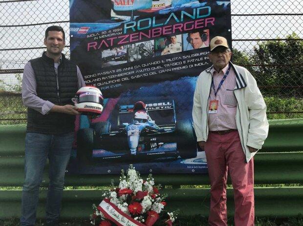 Peter Levay und Rudolf Ratzenberger, Imola, April 2019