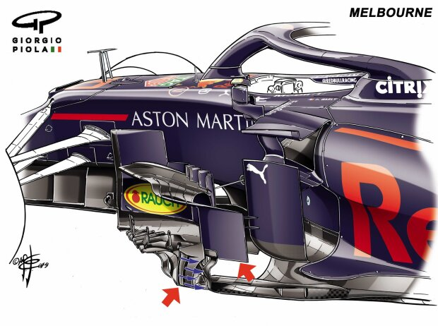 Barge-Board Red Bull RB15, Melbourne 2019