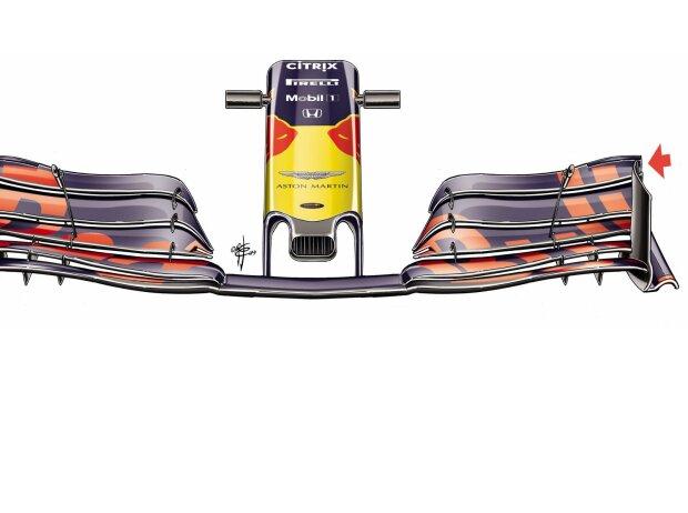 Frontflügel Red Bull RB15, Baku 2019