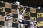 Mike Rockenfeller (Phoenix-Audi), Marco Wittmann (RMG-BMW) und Robin Frijns (Abt-Audi)