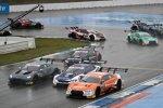 Jake Dennis (R-Motorsport Aston Martin), Joel Eriksson (RBM-BMW) und Jamie Green (Rosberg-Audi)