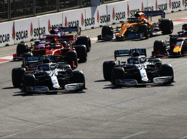 Valtteri Bottas, Lewis Hamilton, Sebastian Vettel, Sergio Perez, Max Verstappen