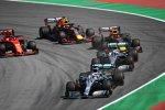 Lewis Hamilton (Mercedes) vor Valtteri Bottas (Mercedes), Max Verstappen (Red Bull),  Pierre Gasly (Red Bull) und Sebastian Vettel (Ferrari)