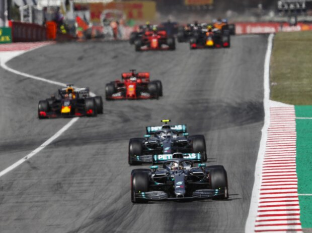 Lewis Hamilton, Valtteri Bottas, Max Verstappen, Sebastian Vettel