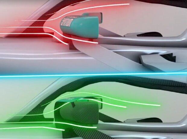 Mercedes W10, Rückspiegel
