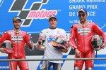 Marc Marquez (Honda), Andrea Dovizioso (Ducati) und Danilo Petrucci (Ducati)