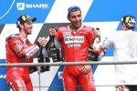 Andrea Dovizioso (Ducati), Marc Marquez (Honda) und Danilo Petrucci (Ducati)