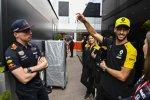 Max Verstappen (Red Bull) und Daniel Ricciardo (Renault)
