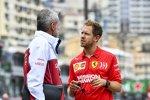 Sebastian Vettel (Ferrari) und Beat Zehnder