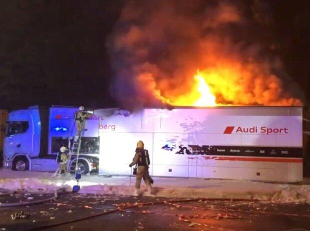 Team Rosberg, Truck, Brand, Feuer