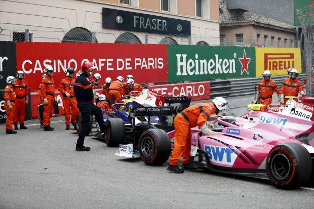 Mick Schumacher Louis Deletraz Anthoine Hubert Prema Prema Theodore Racing F2Carlin Carlin F2 ~Mick Schumacher (Prema), Louis Deletraz (Carlin) und Anthoine Hubert (Arden) ~