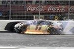 Crash: Denny Hamlin (Gibbs)