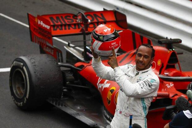 Lewis Hamilton Niki Lauda Mercedes Mercedes-AMG Petronas Motorsport  F1 ~Lewis Hamilton (Mercedes) und Niki Lauda ~