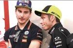 Lorenzo Baldassarri und Valentino Rossi