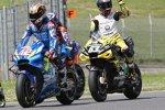 Alex Rins (Suzuki) und Francesco Bagnaia (Pramac)
