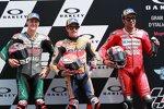 Marc Marquez (Honda), Fabio Quartararo (Petronas Yamaha) und Danilo Petrucci (Ducati)