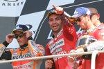 Danilo Petrucci (Ducati), Marc Marquez (Honda) und Andrea Dovizioso (Ducati)