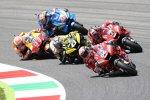 Danilo Petrucci (Ducati), Andrea Dovizioso (Ducati), Jack Miller (Pramac) und Marc Marquez (Honda)