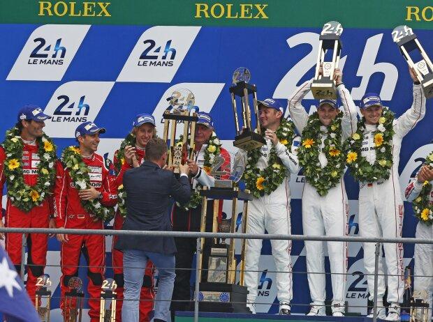 Podium in Le Mans 2015