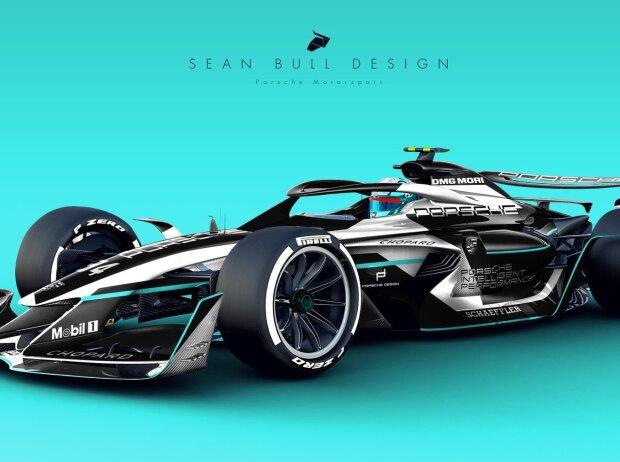 Porsche-Studie für die Formel E von Designer Sean Bull