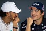 Lewis Hamilton (Mercedes) und Lance Stroll (Racing Point)