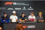 Daniil Kwjat (Toro Rosso), Lewis Hamilton (Mercedes), Lance Stroll (Racing Point), Kimi Räikkönen (Alfa Romeo) und Lando Norris (McLaren)