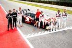 Pietro Fittipaldi (WRT ), Jonathan Aberdein (WRT ), Andrea Dovizioso und Robin Frijns (Abt-Audi)